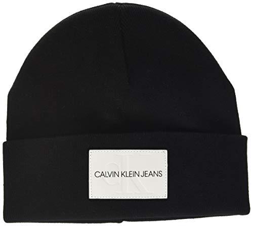 Calvin Klein Jeans Damen Ckj Monogram Beanie Sonnenhut, Schwarz (Black Bds), One Size (Herstellergröße: OS)
