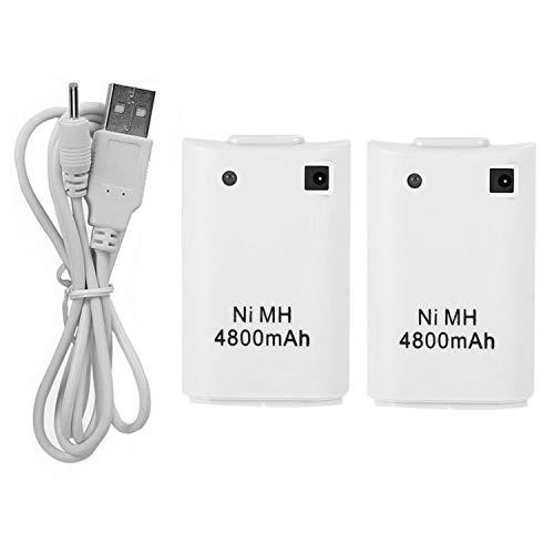 CICMOD 2 Pzs Xbox 360 Mando Batería, 4800mAh Baterías con USB Cable...