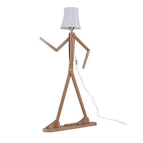 NAN Liang Holz Original 1,6 mt Ffloor Lampe Stehlicht Vielzahl Charakter Modellierung Schatten Leinen Weiß Modern Cool für Schlafzimmer Wohnzimmer (Hellbraun)