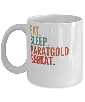 Karatgold Coin Crypto Eat Sleep Karatgold Coin Repeat Mug 11oz white