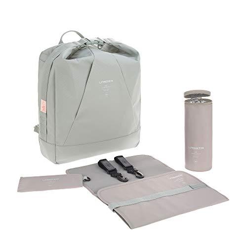 LÄSSIG Baby Wickelrucksack Wickeltasche mit Zubehör nachhaltig produziert/Ocean Backpack mint