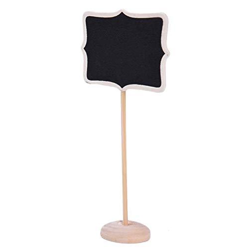 10 Stück Mini Kreidetafel Kreative Desktop vertikale Pinnwand für Einrichtungsgegenstände Seat Card