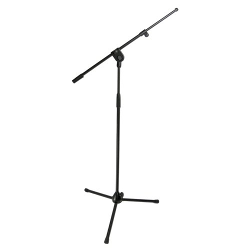 Lumisonix Microphone Floorstand with Boom Arm - Black