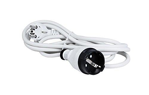 Verlängerungskabel Verlängerung Strom-Kabel Schuko Stecker weiß 1,5 Meter kabel, Kinderschutz Schukosteckdose (1,5 Meter)