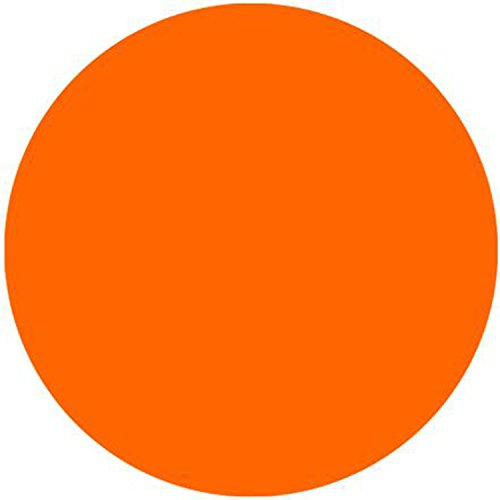 The Most Popular Bright Orange Fashion Design Circular Mousepad With Rubber 20cm by Mouse Pads
