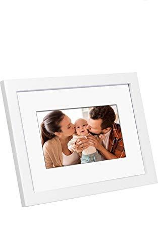 "Polaroid 7"" Digital Wood Frame White"