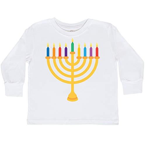 inktastic Hanukkah Menorah Candles Toddler Long Sleeve T-Shirt 2T White 1fa37
