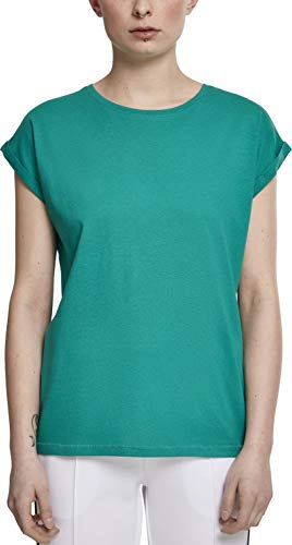 Urban Classics Damen Ladies Extended Shoulder Tee T-Shirt, fresh green, M