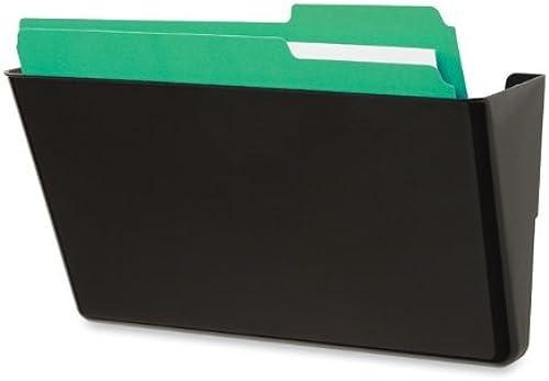 para barato Wall Files, Single Single Single Pocket, Letter, 13 x4 x7 , negro, Sold as 1 Each  los clientes primero