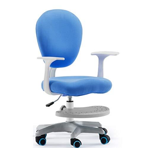Chaises Chaise étudiante Chaise de correction pour la maison Chaise d'ordinateur simplifiée Chaise Uplift chaises pour enfants (Color : Blue)