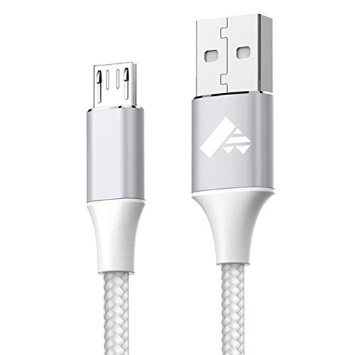 Micro USB Cable, Aioneus Android Charger Cable 2M Fast Charging Cables Nylon Braided USB Charger Lead for Samsung Galaxy S7 Edge S6 S5 J7 J5 J6 J3 Note 5 A6 A10, Sony, LG, Kindle, Xbox, PS4, Tablets