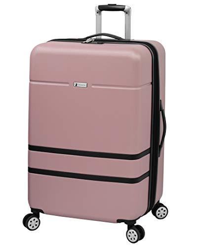 London Fog Southbury II Hardside Spinner Luggage, blush, Checked-Large 29-Inch