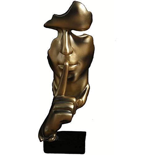 DIAOSI Statues décoratives, Le Silence est la décoration d'or, pour Le Bureau/créatifs/décorations d'armoire à vin de Salon à la Maison