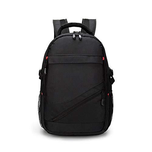 Swiss Warrior Saber Backpack Multifunctional Sports Backpack Female Outdoor Waterproof Nylon Computer Bag Male Backpack (Color : Black, Size : 15.6 inch)