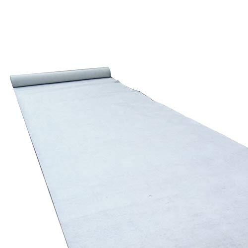 WCS Tapis de Mariage - Tapis jetable - Tissu Anti-Glisse Non tissé, Blanc, Céramique - Allée de cérémonie - Tapis VIP - Tapis d
