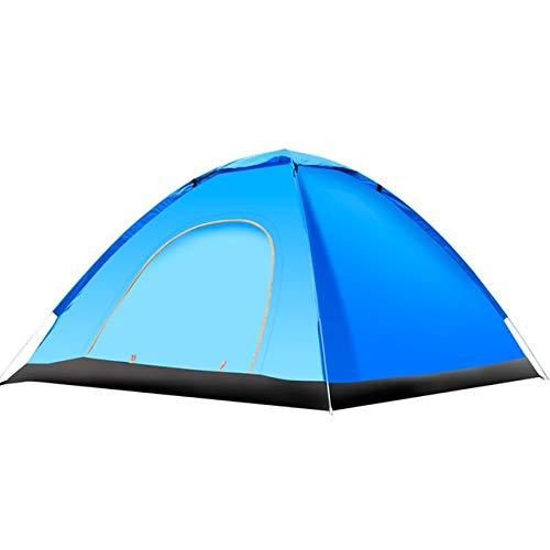 Tent HDS en Plein air de Camping Automatique Pop Up extérieure Modèles Camping Familial Easy Open Camp Ultraléger instantané Ombre (Color : Blue)