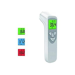 VBNM – Termometro elettronico da Fronte e Orecchio, con Pistola a infrarossi, Display a LED e Funzione di memorizzazione Dati, 15 Gruppi