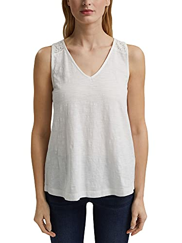 Esprit 041ee1k356 Camiseta, Blanco Crudo, S para Mujer