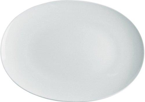 Alessi Sg53/22 38 Mami Plat de Service Ovale en Porcelaine Blanche