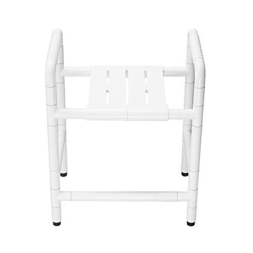 Bath Chair Shower Stool Disabled Bathroom Seats, Shower Stool for Elderly Non-slip Bathtub Seat Medical Pregnant Woman Safety Bath Chair, Maximum Load Capacity 400KG Bathroom Wheelchair Aids Adjustabl