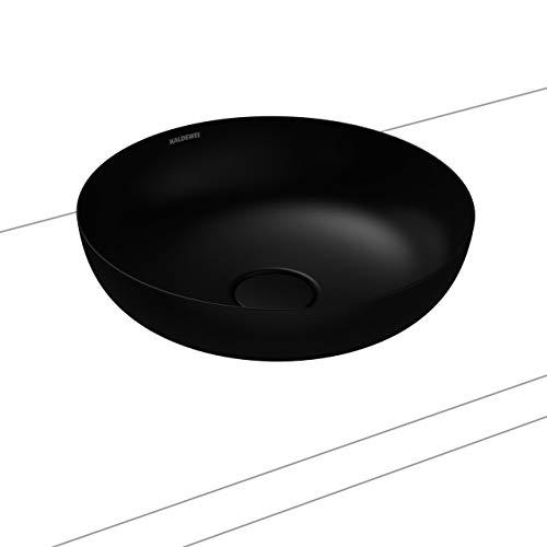 Kaldewei Waschtisch-Schale rund Miena 3181 (ohne Überlauf) inkl. Perl-Effekt Ø 38 cm lavaschwarz matt