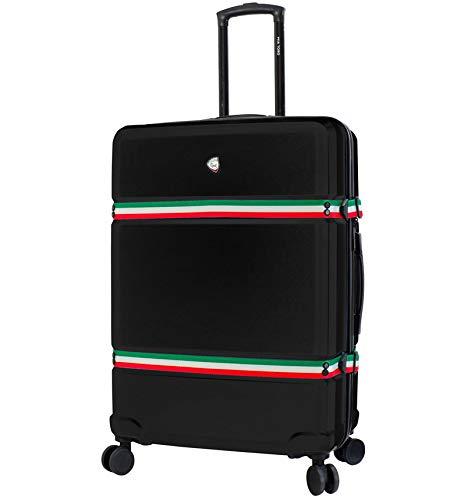 Mia Toro Nastro Spinner L Suitcase 78 cm, Black (Black) - 841795144902