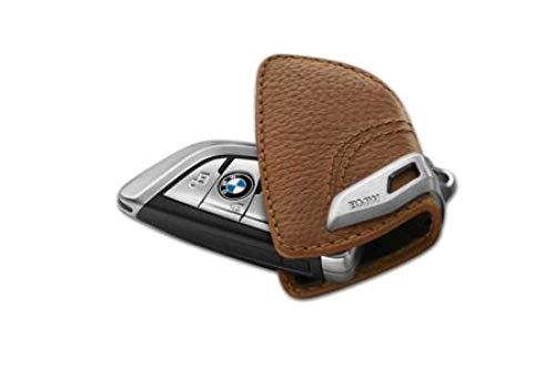 BMW Original Schlüsseletui mit Edelspange - sattelbraun