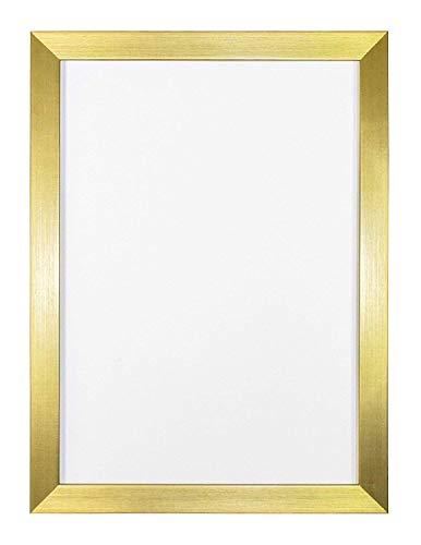 Memory Box Bilderrahmen, Regenbogenfarben, mit Plexiglas, Rahmenmaße: 19 mm breit und 15 mm tief, 12,7 x 8,9 cm, goldfarben