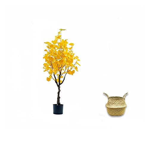 Árboles artificiales 47 pulgadas de árboles artificiales, pueden ajustar varias formas de árboles de ginkgo falsos a voluntad, árboles sintéticos utilizados para la decoración de la exposición de la c