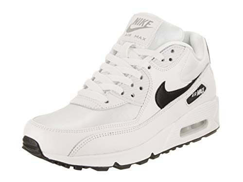 Nike Wmns Air Max 90 Damen Sneakers, Mehrfarbig (White/Black/Reflect Silver 137), 40 EU