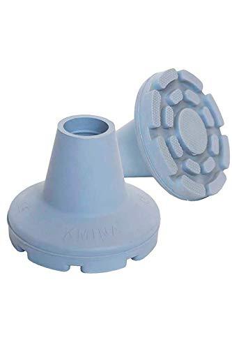 KMINA - Dop voor Krukken 22mm, Dop voor Wandelstok, Rubberen Dop, Uiteinden Krukken, Krukdoppen 22mm, Grijs 1 Stuk