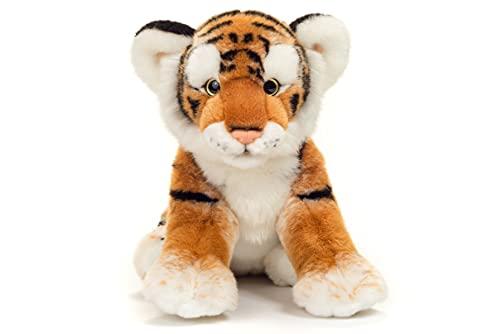 Teddy Hermann 90448 Tiger braun 32 cm, Kuscheltier, Plüschtier