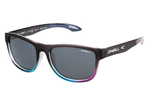 O'Neill Coast Polarized Round Sunglasses, Matte Grey/Gloss Multicolored, 53 mm