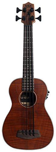 Kala U-Bass Exotic Mahogany - Pedal para guitarra (plegable, incluye bolsa), diseño de mano izquierda
