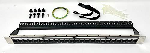 Ultra Spec Cables Premium 1U 24 Port Unloaded Keystone Type Mini Patch...