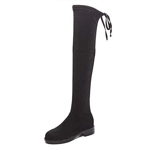 Dames Fashion Boot Winter Nieuwe Plus Cashmere Over Knie Hoge Laarzen Jurk Schoenen Klassieke laarzen 38 A