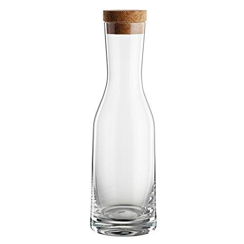 Bohemia 093 006 151 La Bella - Jarra de cristal, con tapón de corcho, Transparente, 1200 ml
