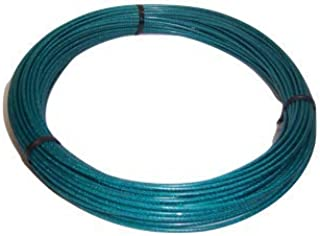 1//16 to 3//32 Diameter 480 lb 500 Length 7 x 7 Strands Nominal Breaking Strength Liftall 11633250077 Vinyl Coated Galvanized Aircraft Cable