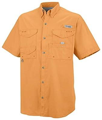 Columbia Men's Bonehead Short Sleeve Shirt, Summer Orange, 4X