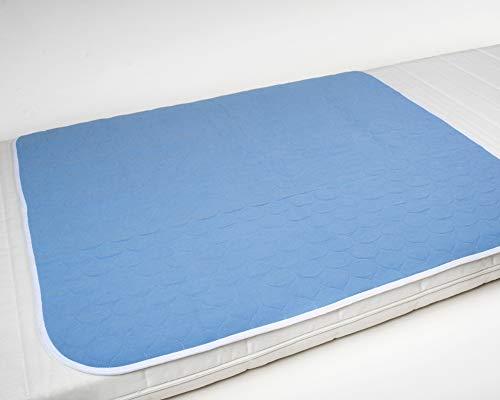 Inkontinenzunterlage waschbar 85x90 4-lagig, Krankenunterlage, Bettschutzauflage, Inkontinenzauflage ActivePro