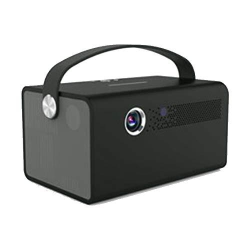LANTELSHANO Proyector Inalámbrico Portátil Micro DLP 3D Home Theater Incorporado En Android 6.1 Soporte 4K / HiFi Calidad De Sonido De Banda Dual WiFi / BT4.0 HD Smart TV Sin Rejillas