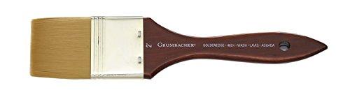Chartpak Grumbacher Goldenedge Golden Toray Wash Watercolor Brush, Synthetic Bristles, Size 2' (4624.200)