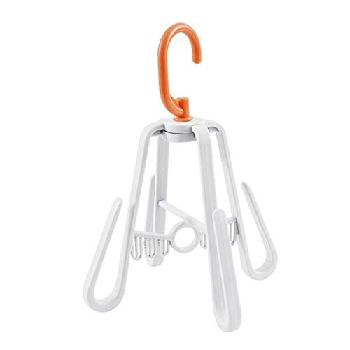 Zoomne - Perchero giratorio para exteriores, plegable, para secar, color blanco