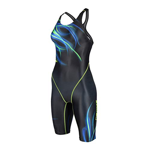 ZAOSU Wettkampf-Schwimmanzug Z-Fire III - Badeanzug mit Bein für Damen und Mädchen, Größe:176/36