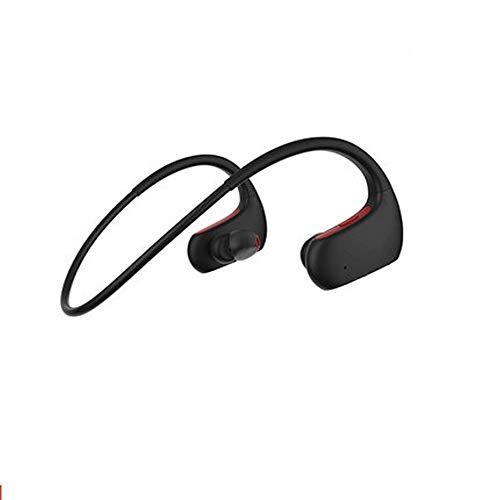 Auriculares Bluetooth IPX7 Auriculares Inalámbricos A Prueba De Agua Bluetooth 4.1HiFi Bass Estéreo Earmuff Cinta Micrófono Reducción De Ruido Auricular 8 Horas Tiempo De Juego (Color : Red)