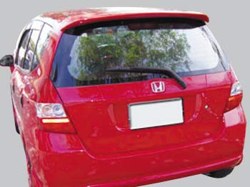 Accent Spoilers- Spoiler for a Honda Fit Factory Style Spoiler- Milano Red Paint Code: R81