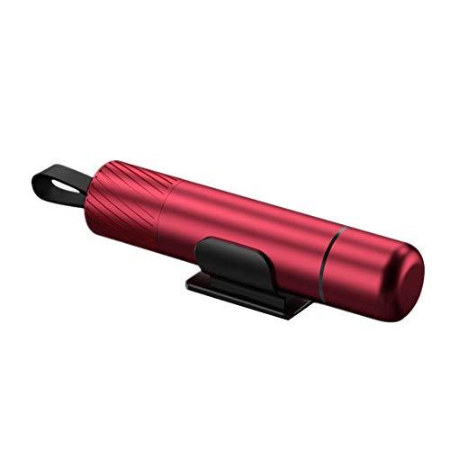 Martillo Rompe Cristales Coche Tarjeta Rompe Cristales Y Cinturones Coche herramienta de Escape Accesorios de coche Desglose Kit Red,One Size