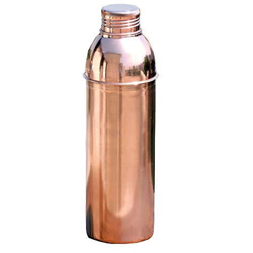 HealthGoodsIn - Traveller's Copper Water Bottle for Ayurvedic Health Benefits | Pure Copper Bisleri Bottle