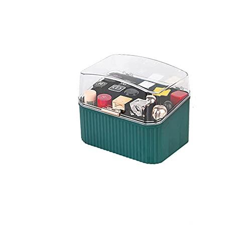 Recet Joyero para joyas, caja organizadora para collares, pendientes, soporte para joyas (caja para pintalabios)