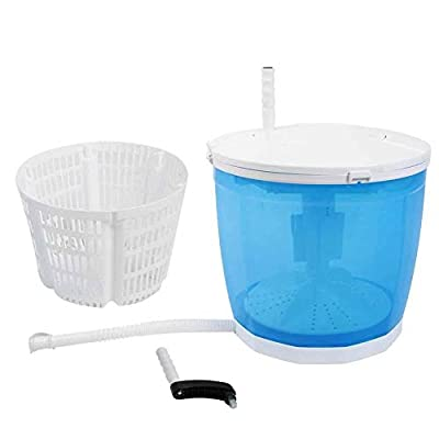 GOTOTOP Mini Hand Washing Machine 2 in 1 Centrifuge Washing Machine with Drainage Tube for Clothes Vegetables for Outdoor Camping